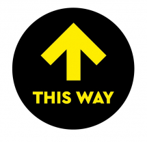 THIS WAY 300MM FLOOR STICKER PK OF 5