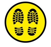 FOOT PRINT 300MM WINDOW STICKER PK OF 5