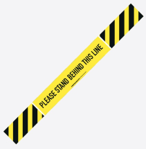 PLEASE STAND BEHIND THIS LINE 700MM X 100MM S/A STRIP PK 5