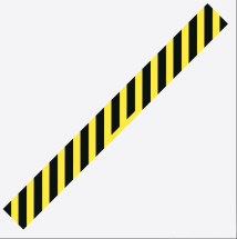 BLACK/YELLOW HAZARD LINE 700MM X 100MM S/A STRIP PK 5